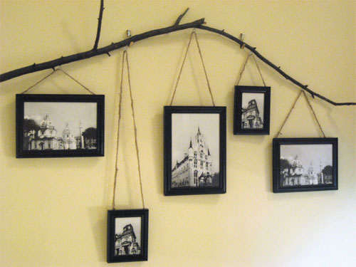 10 murais criativos for Cool picture hanging ideas