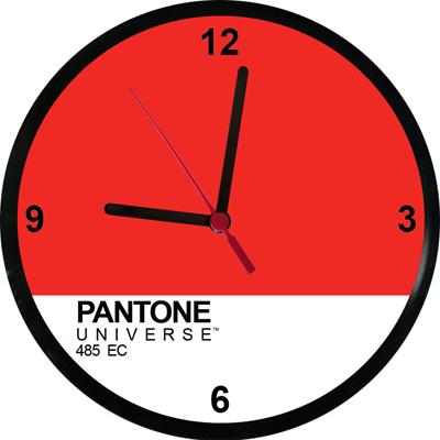 Relógios Pantone 485EC