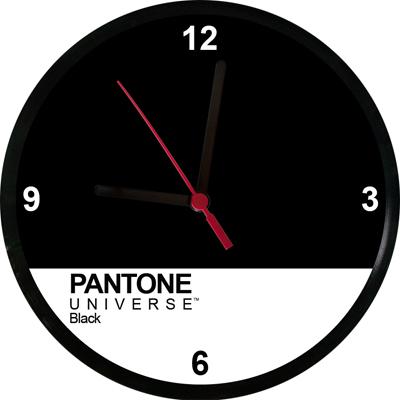 Relógios Pantone Black