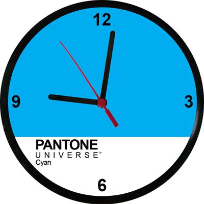 Relógios Pantone Cyan